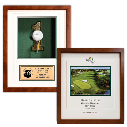 hole-in-one plaques