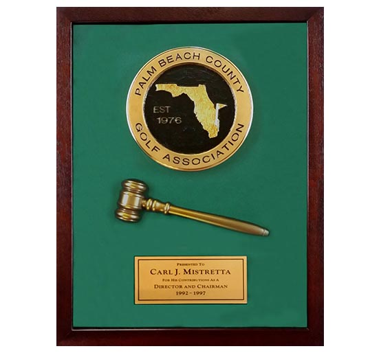 3D Logo with Gavel photo